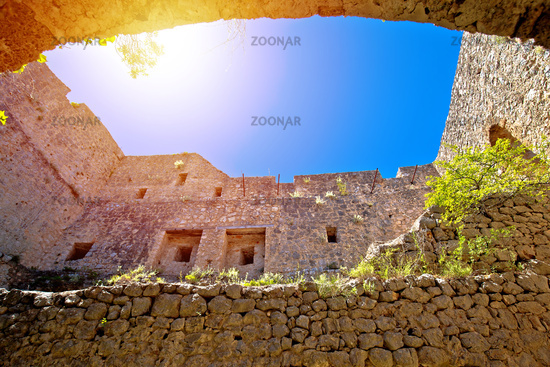 Prozor hill fortress ruins above Vrlika view
