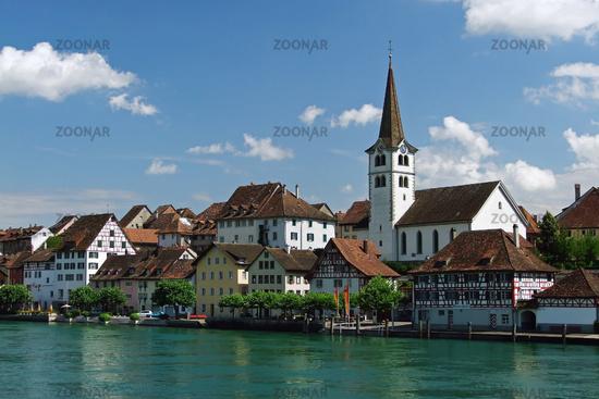 Cityscape of Diessenhofen in Switzerland