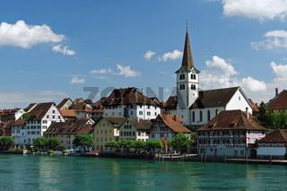 Stadtansicht von Diessenhofen in der Schweiz