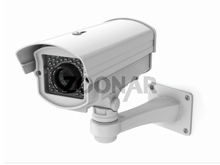 CCTV security camera on white background. 3d