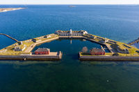 Aerial View of Trekroner Fort in Copenhagen
