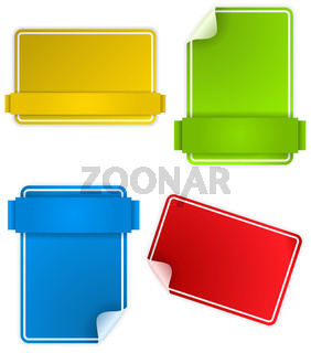 Set of Colorful Text Box