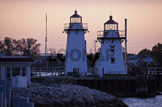 Two lighthouses in Green Bay