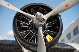 Flugzeugpropeller von vorne