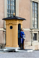 Military guard at the gate of the Royal Palace of Stockholm