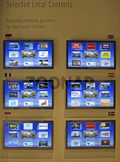 Smart TV, Verbindung von TV und Internet, Internationale Funkausstellung, IFA, 2012, Berlin, Deutschland, Europa
