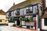 ALFRISTON, SUSSEX, UK - SEPTEMBER 13 : View of the Star restaurant in Alfriston, East Sussex on September 13, 2021