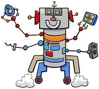 cartoon funny robot fantasy comic character