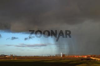 Unwetter über Ostfriesland