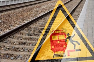 Achtung! Gefahr am Bahnsteig