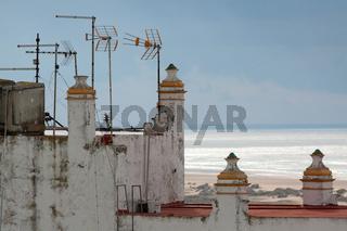 Meeresblick in Conil. Andalusien