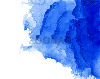 Abstract Blue Watercolor Splash Art