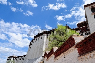 Im Himmel Potala Palast Lhasa Tibet
