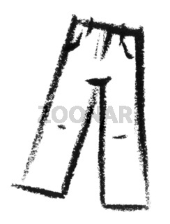 sketched pair of trousers