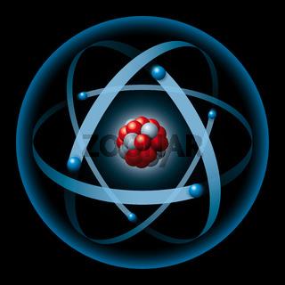Atomkern und Elektronen