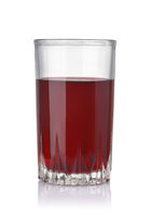 Front view of blackberry juice glass