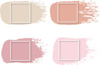 Pink Paint With White Frame White Background