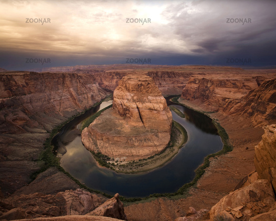 Dramatic Desert Canyon Sunrise