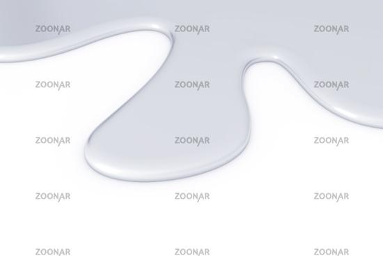 light gray metallic smudge on white background