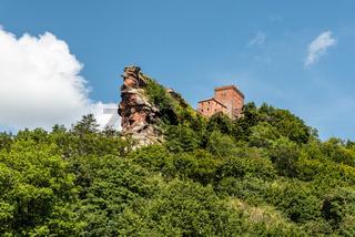 Burg Trifels bei Annweiler, Pfälzerwald, Rheinland-Pfalz, Deutschland