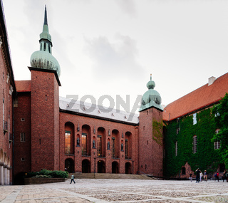 The courtyard of Town Hall of Stockholm, Sweden