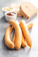 Smoked frankfurter sausages