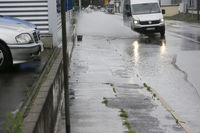 Land under because of heavy rain, continuous rain