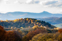 natural landscape of the Carpathian mountains in autumn