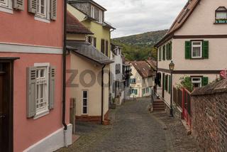 small street in the old town of Kronberg im Taunus, Hesse, Germany