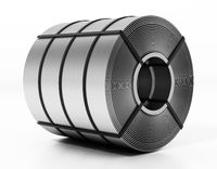 Stainless steel roll isolated on white background. 3D illustration