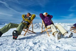 Apres ski at mountains