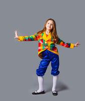Artistic girl have performance, future profession costume