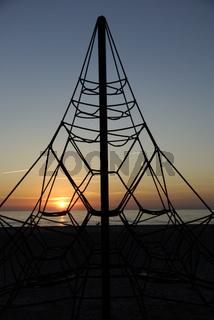 Sonnenuntergang am Strand in Ventspils