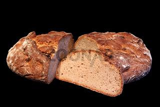 Brotlaib und Brotscheibe