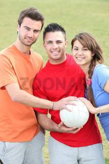 Young sports people