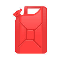 Red Jerry Can Isolated on White Background. Metal Fuel Container. Canister of Diesel Gas, Gasoline. Jerrycan Icon