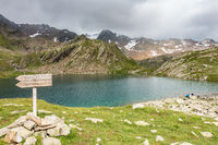 The Timmels Schwarzsee near the Timmelsjoch, Tyrol, Italy