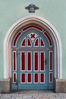 The restored church gate