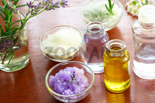 Bath salt with aromatherapy oil