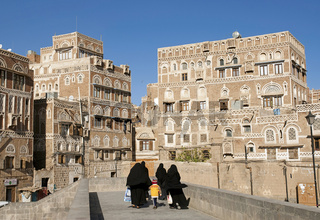 sanaa old town in yemen