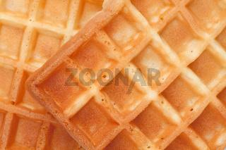 Close up of waffles