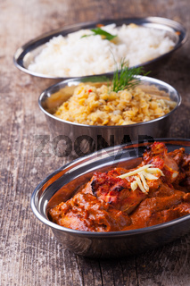 indisches Chicken Tikka Masala mit Reis