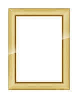 Gold wooden frame for picture or photo