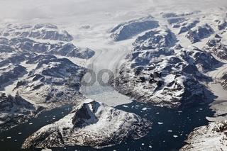 Überm Grönlandeis - Luftbild