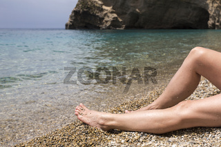Am Paradise Beach Nähe Paleokastritsa, Korfu