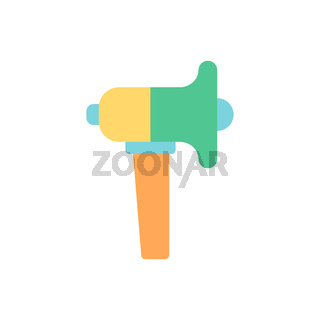 Loudspeaker vector flat color icon