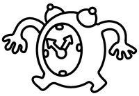 Walking Clock Cartoon Drawing