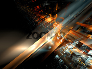 Abstract tech background with copy space - digitally generated 3d illustration