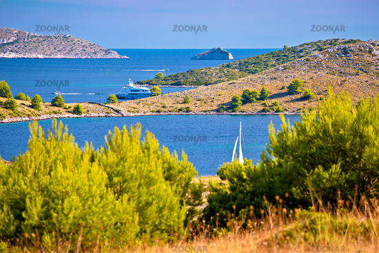 Amazing Kornati Islands national park archipelago landscape view