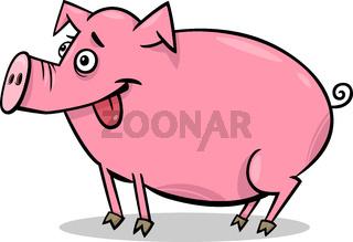 pig farm animal cartoon illustration